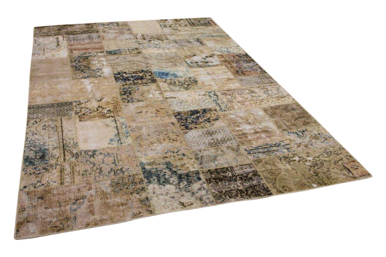 patchwork vloerkleed gemaakt van perzische vloerkleden 309cm x 208cm 58716