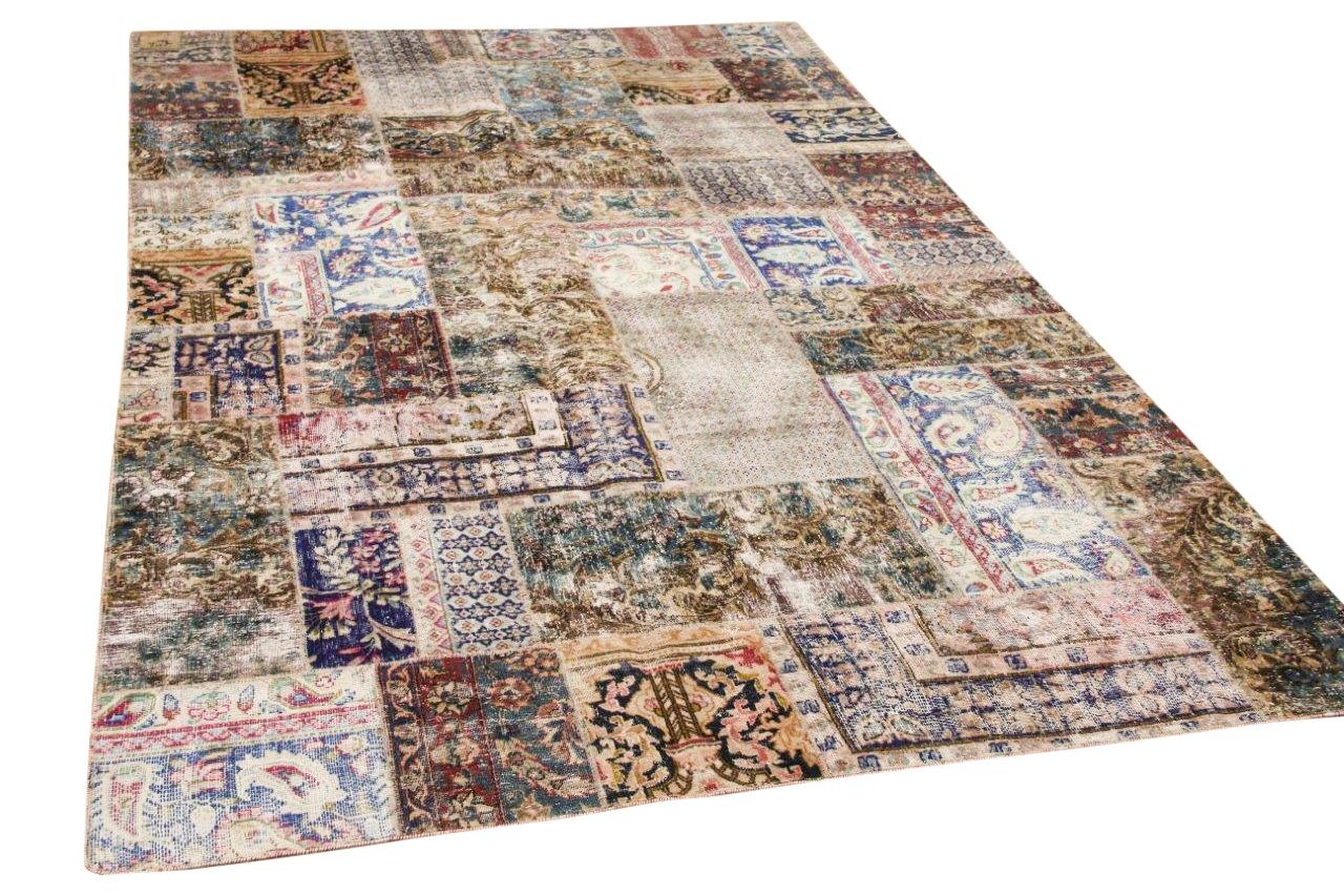 patchwork vloerkleed nr.59515 308cm x 197cm