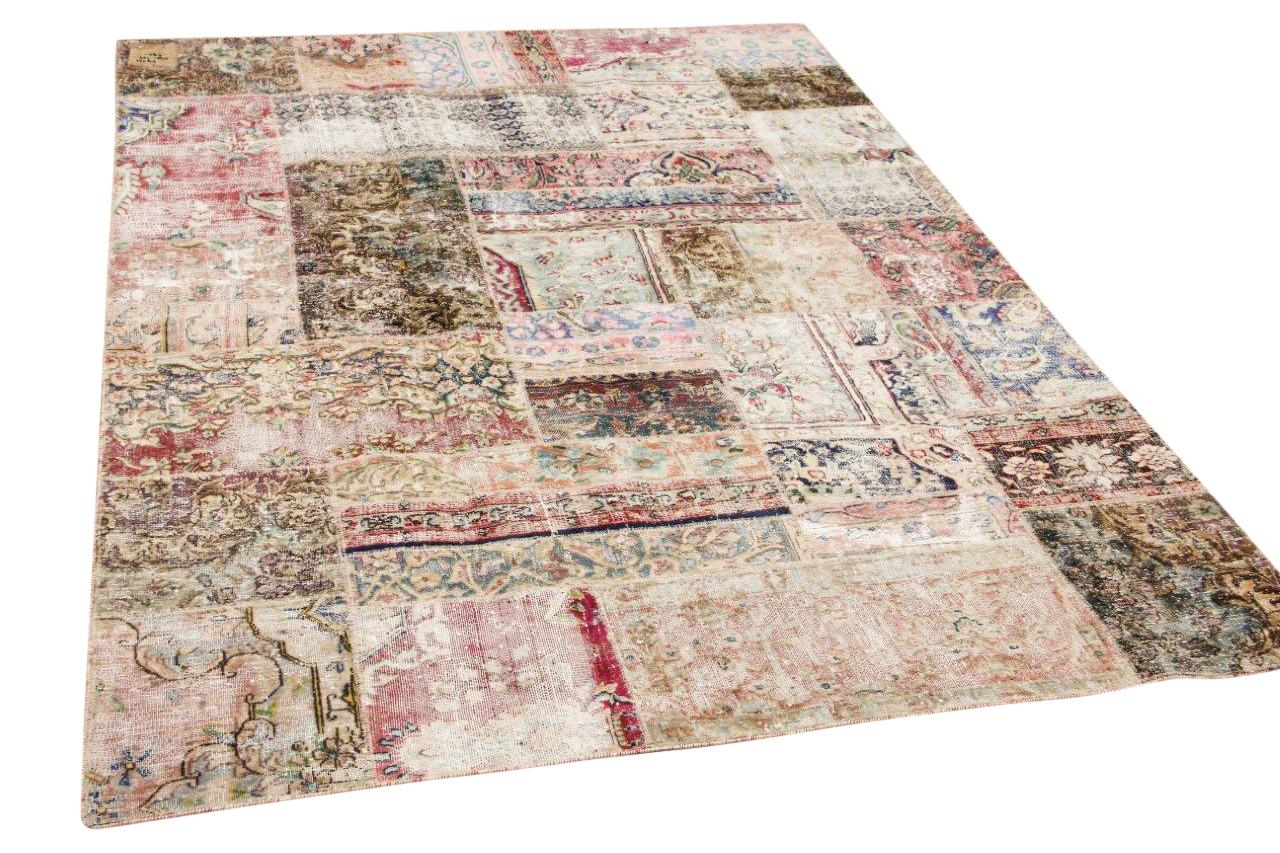 patchwork vloerkleed nr.59521 242cm x 172cm