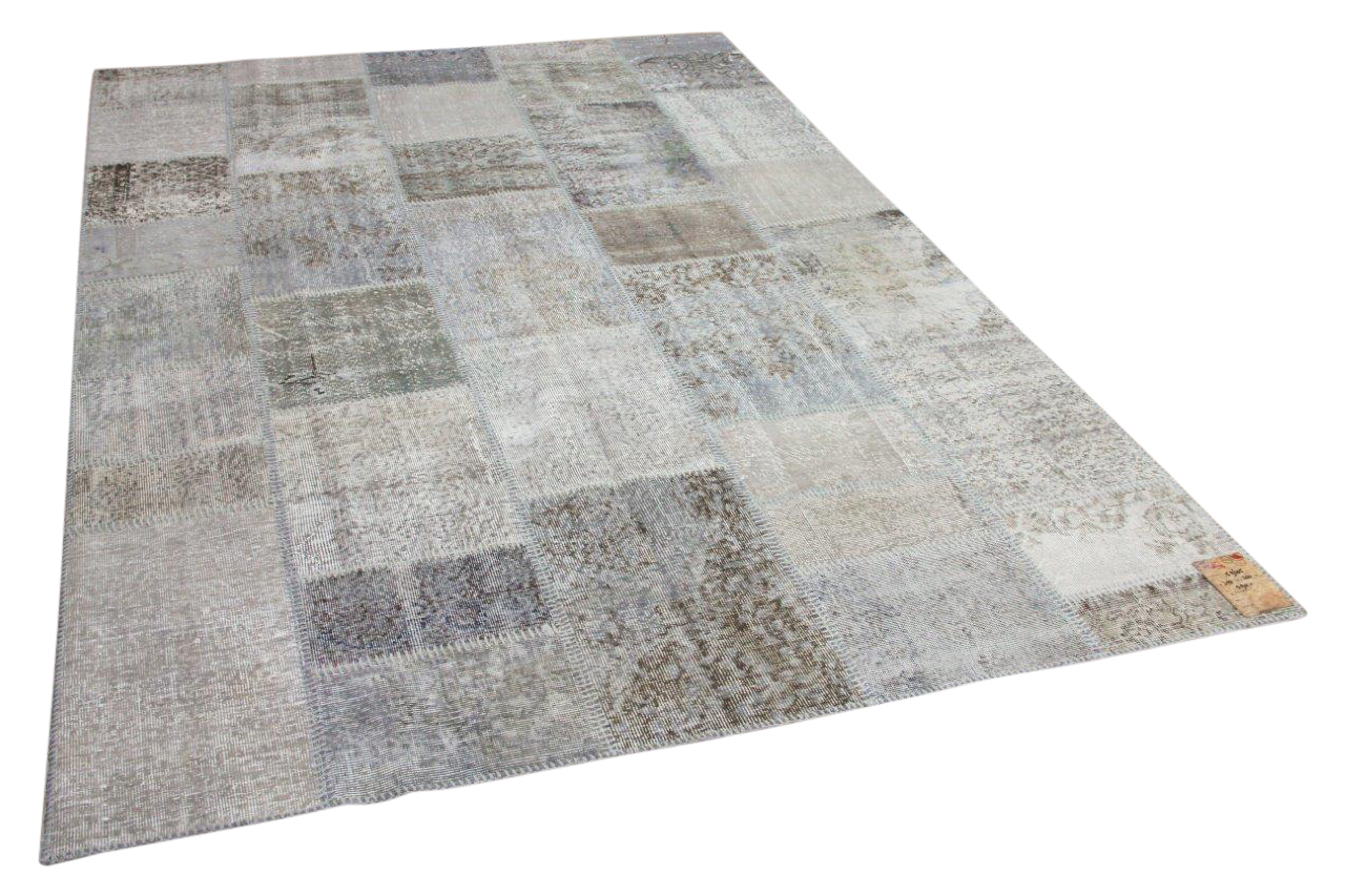 Patchwork vloerkleed grijs nr.59605 300cm x 200cm