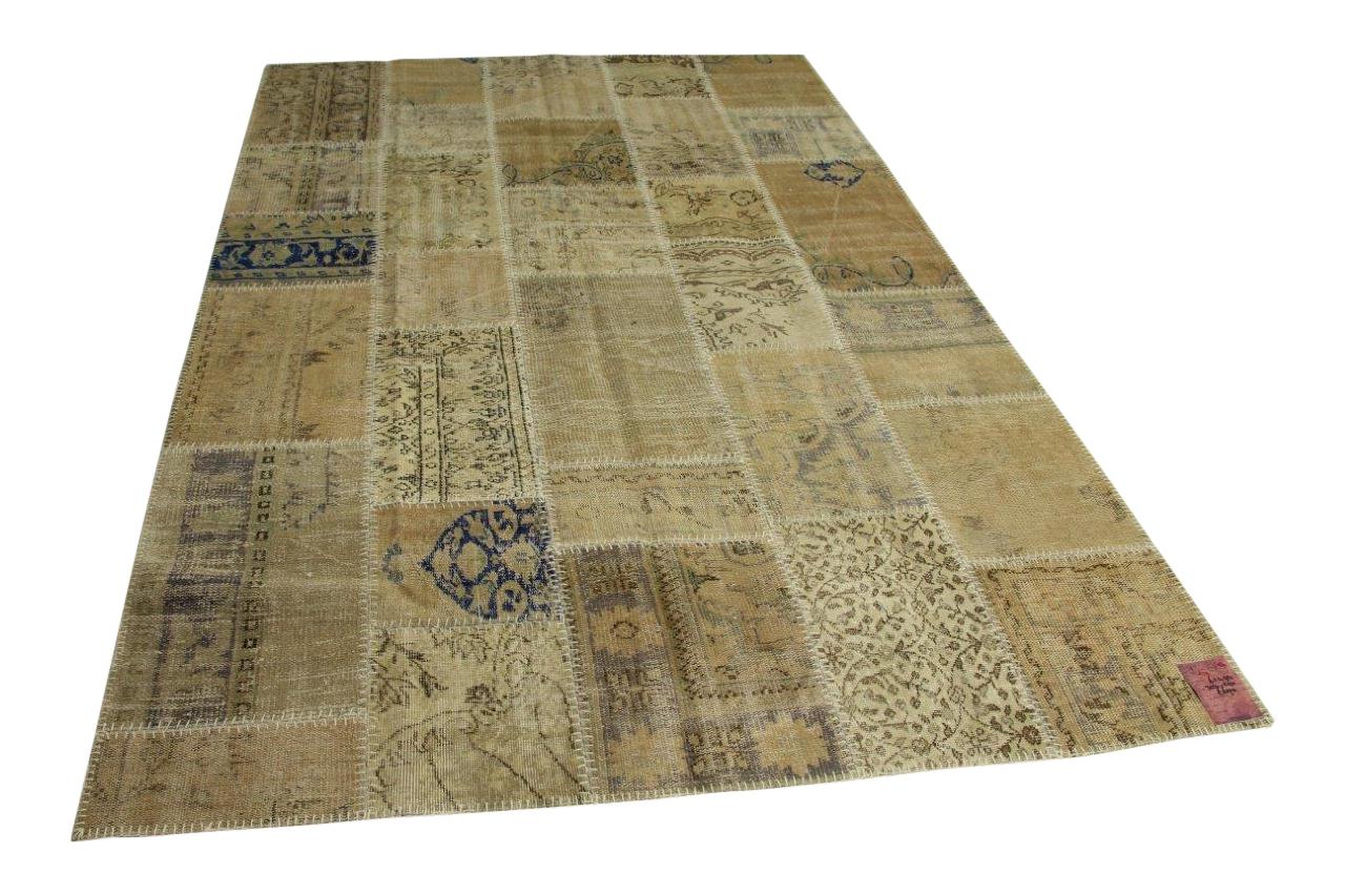 Zandkleurig patchwork vloerkleed 303cm x 210cm nr61494