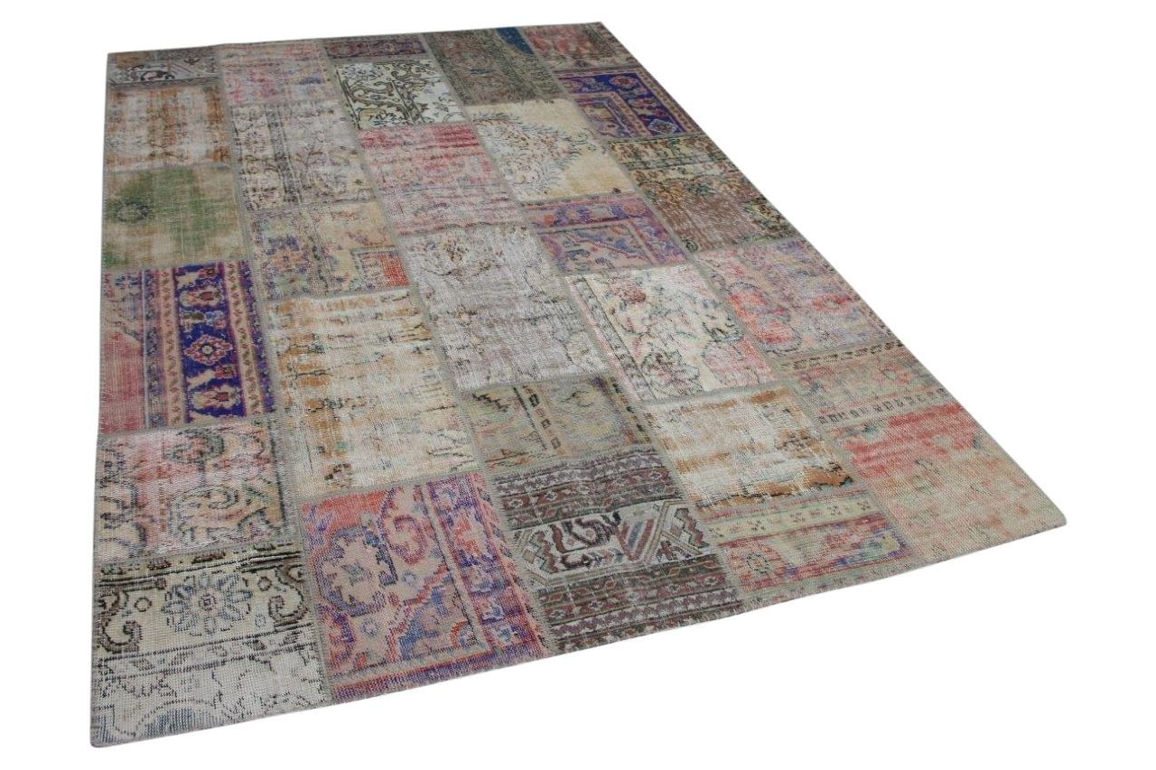Afbeelding van Patchwork vloerkleed diverse kleuren 295cm x 200cm