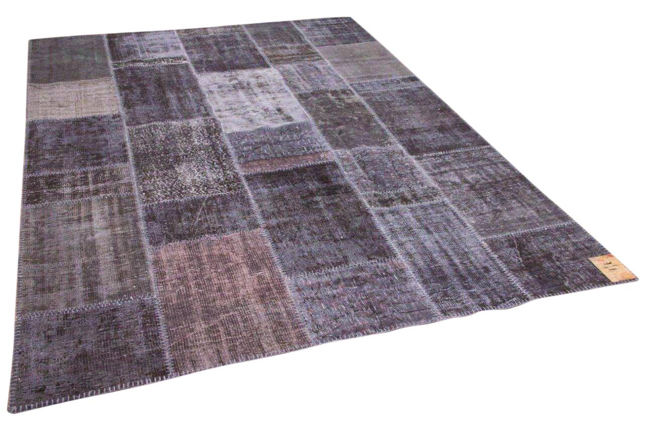 patchwork vloerkleed  grijs 302cm x 214cm