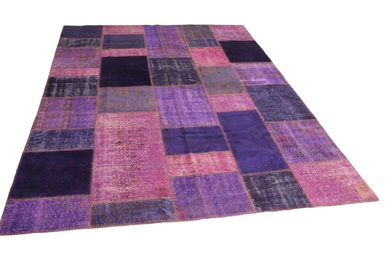 Paars patchwork vloerkleed 310cm x 215cm nr68489