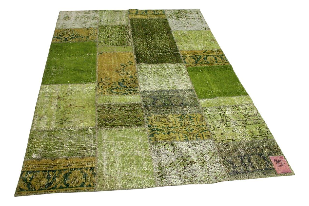 Groen patchwork vloerkleed 245cm x 172cm nr68503