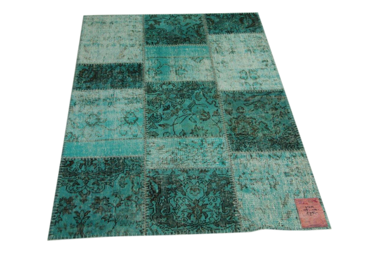 Aqua patchwork vloerkleed 155cm x 116cm nr71375