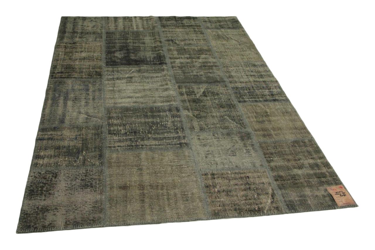 grijs patchwork vloerkleed 245cm x 170cm nr71453