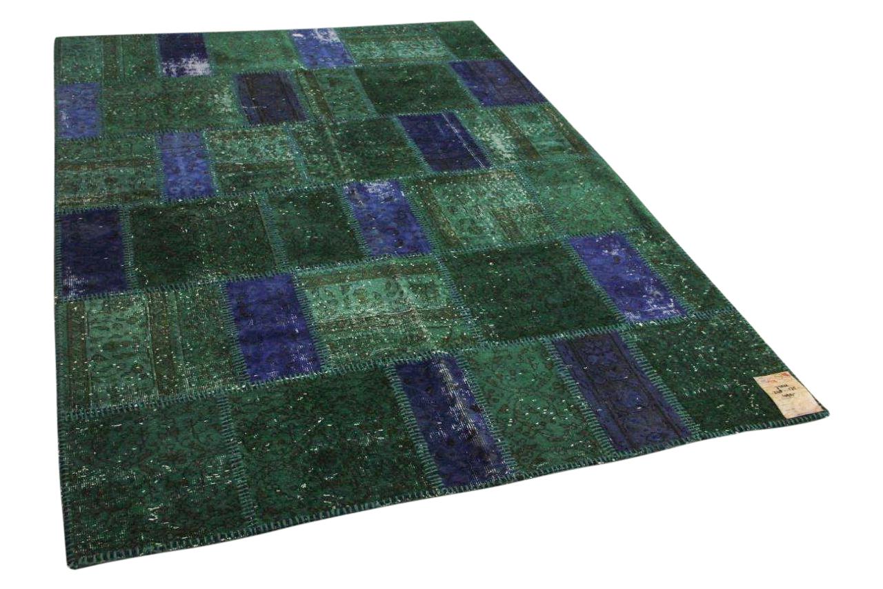 blauw patchwork vloerkleed 238cm x 172cm nr10674