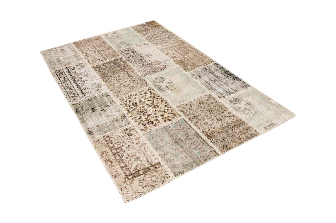 patchwork vloerkleed beige nr.50615 300cm x 195cm