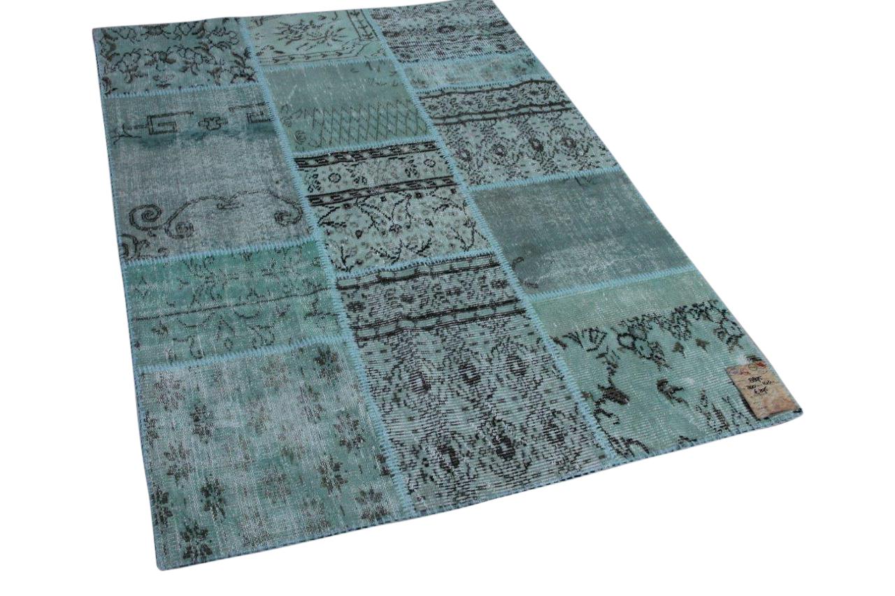 patchwork vloerkleed misty green 200cm x 140cm