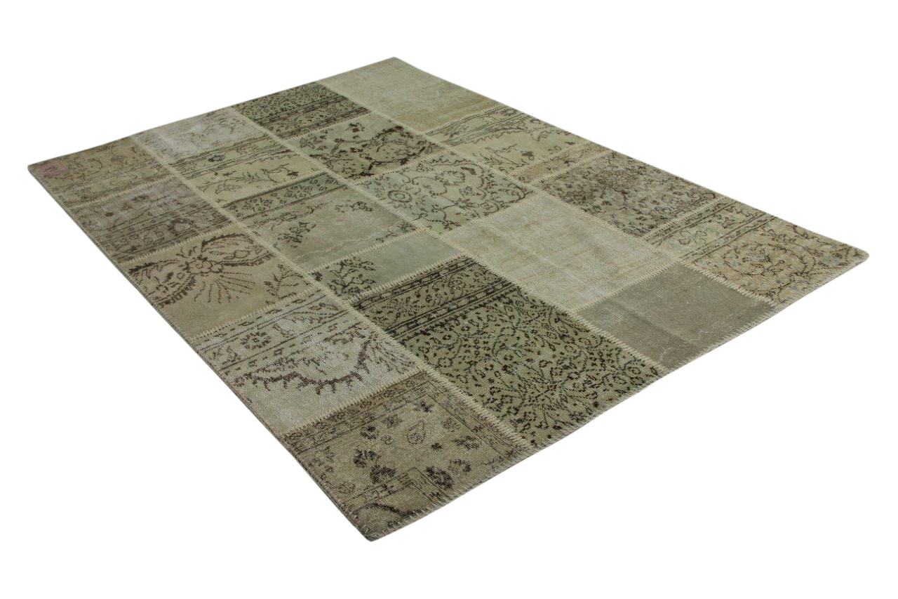 zandkleurig patchwork vloerkleed 240cm x 170cm 9226