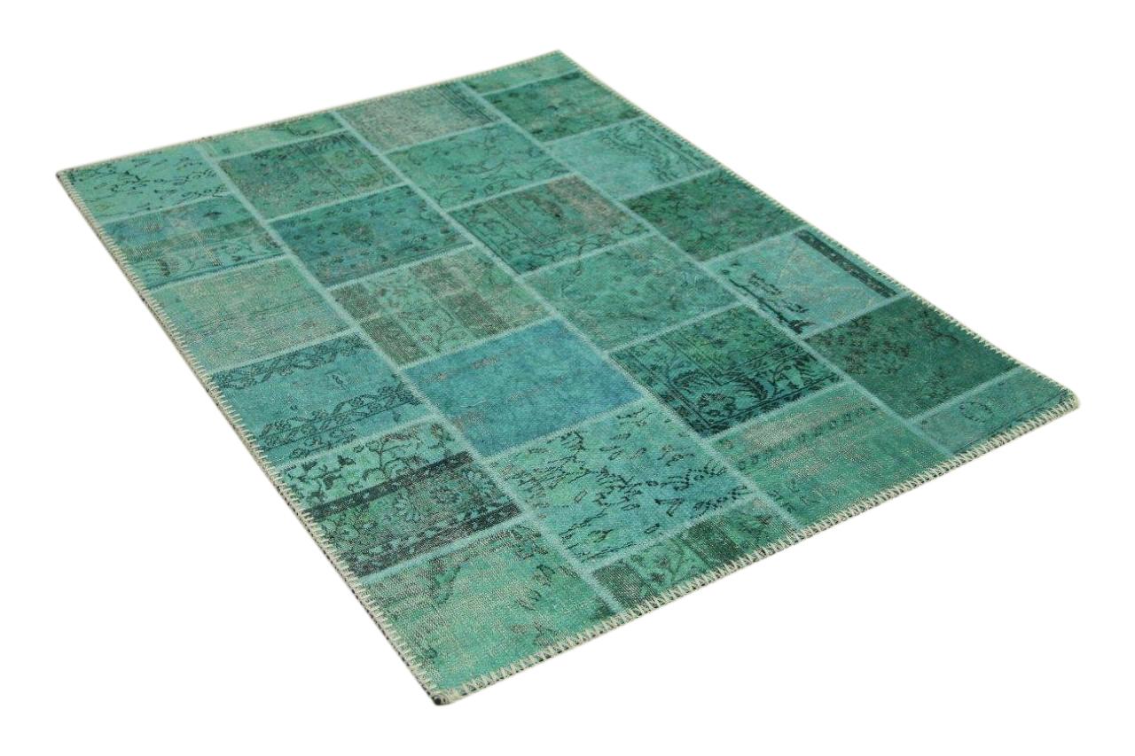 Patchwork blauw badmat