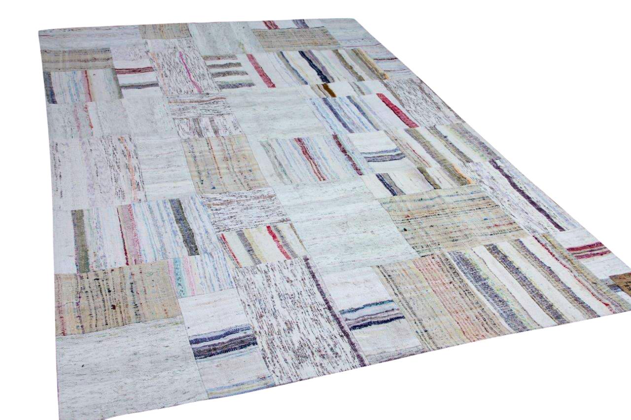 patchwork vloerkleed katoen 250cm x 176cm