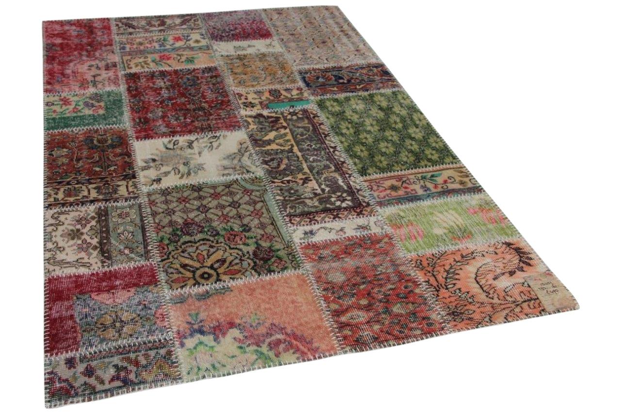 Patchwork vloerkleed met diverse kleuren 13432