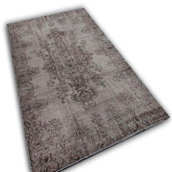 Vintage grijs vloerkleed 1297 (301cm x 186cm)