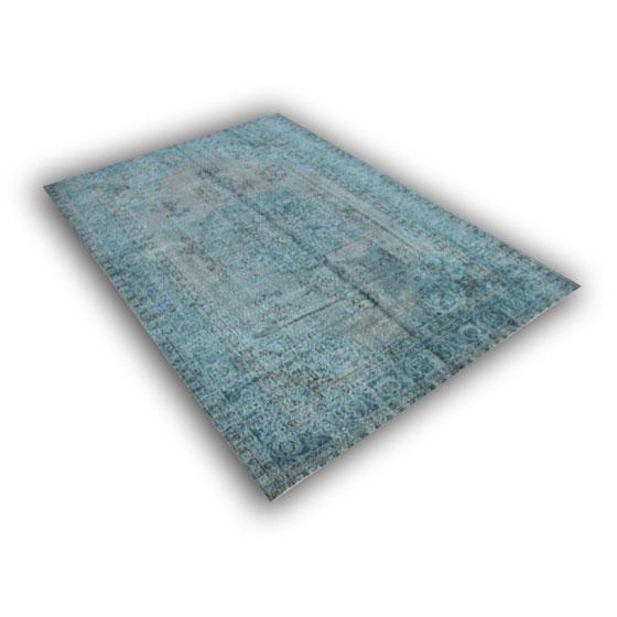 Blauw recoloured vloerkleed 174 (303cm x 210cm)