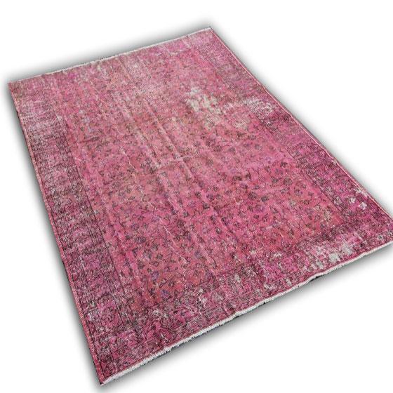 Oud roze vloerkleed 248 (309cm x 205cm)