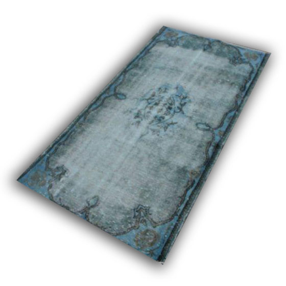 Blauw vintage vloerkleed 258D (195cm x 106cm)