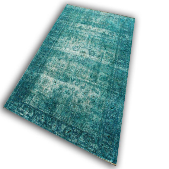 Vintage tapijt aqua 26 (294cm x 219cm)