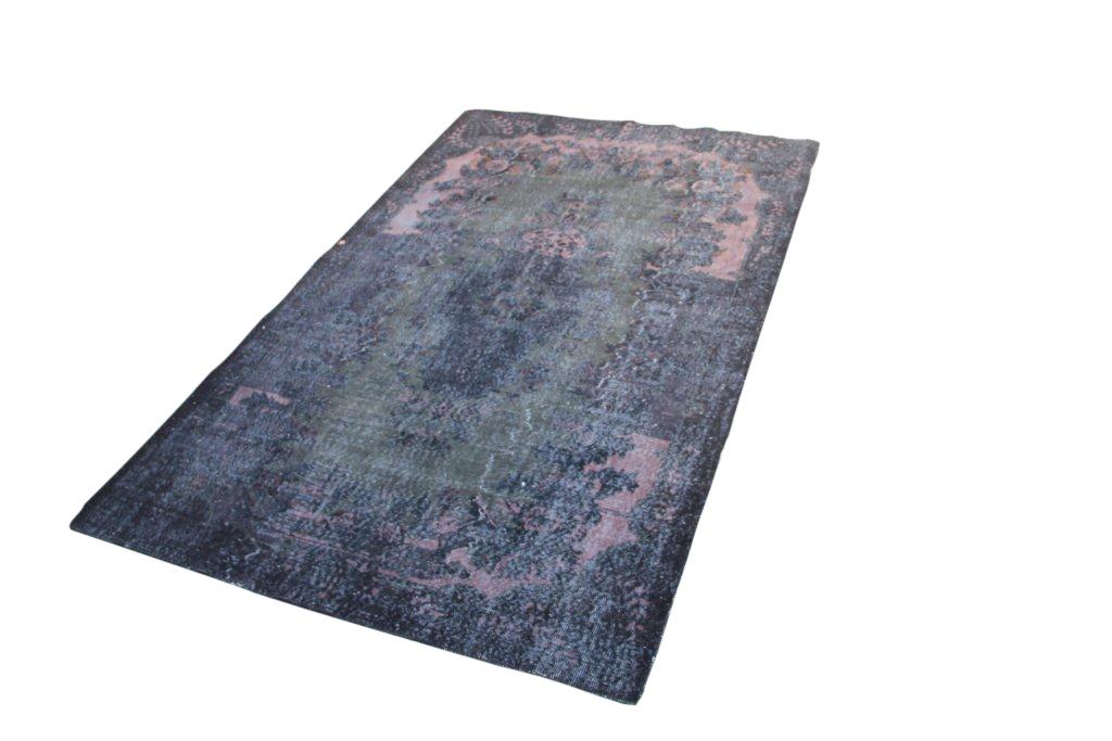 Zwart recoloured vloerkleed nr 526  (300cm x 185cm)Verkocht!!