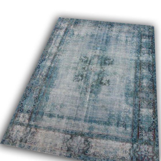 Vintage perzisch lichtblauw tapijt no 254 (357cm x 257cm)