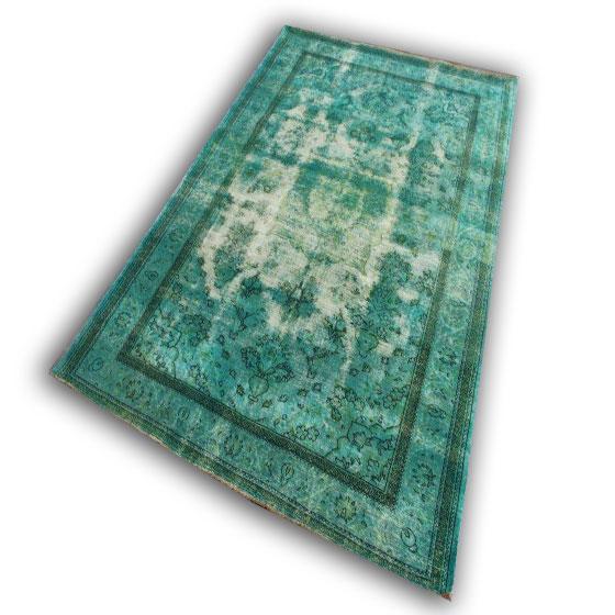 Zeegroen tapijt no 7 (291cm x 216cm)