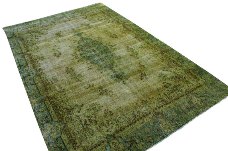 Groen tapijt vloerkleed 383cm x 256cm  (nr4821)