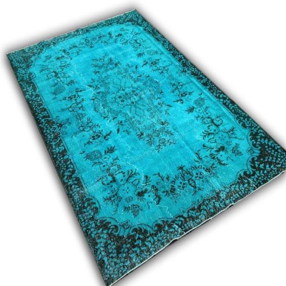 Blauw vloerkleed 9887 (292cm x 185cm)
