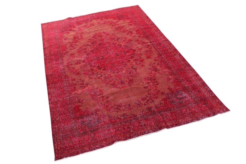 Vintage vloerkleed, rood, 281cm x 167cm