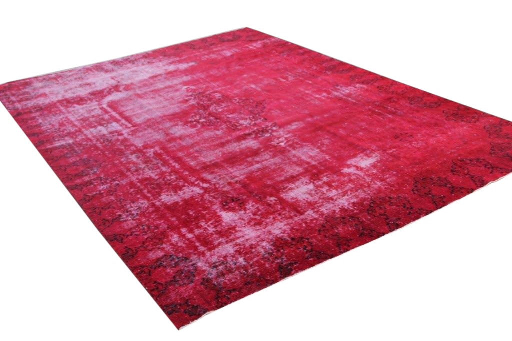 Rood vintage vloerkleed 384cm x 272cm  (nr52447)