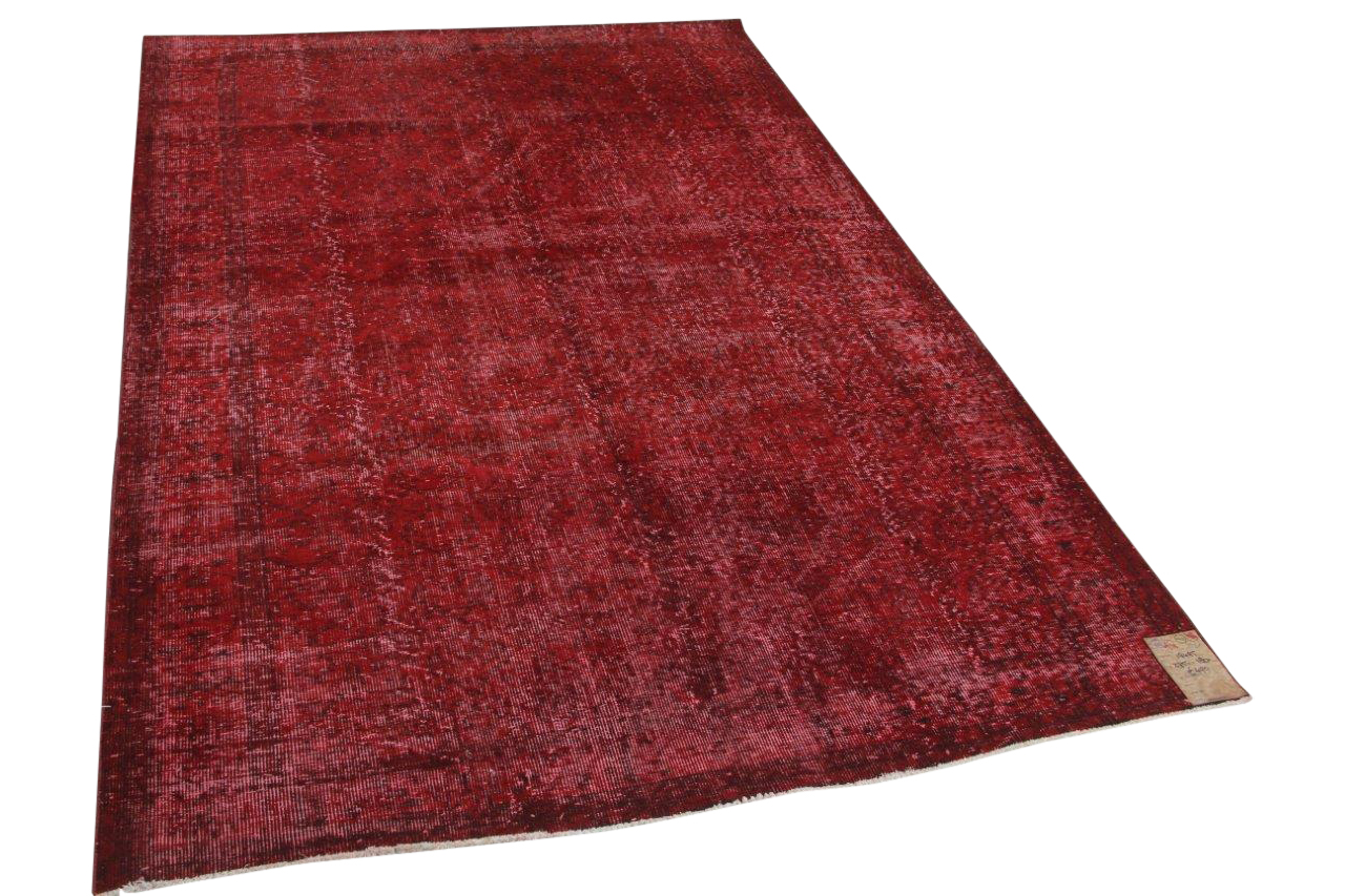 Vintage vloerkleed rood