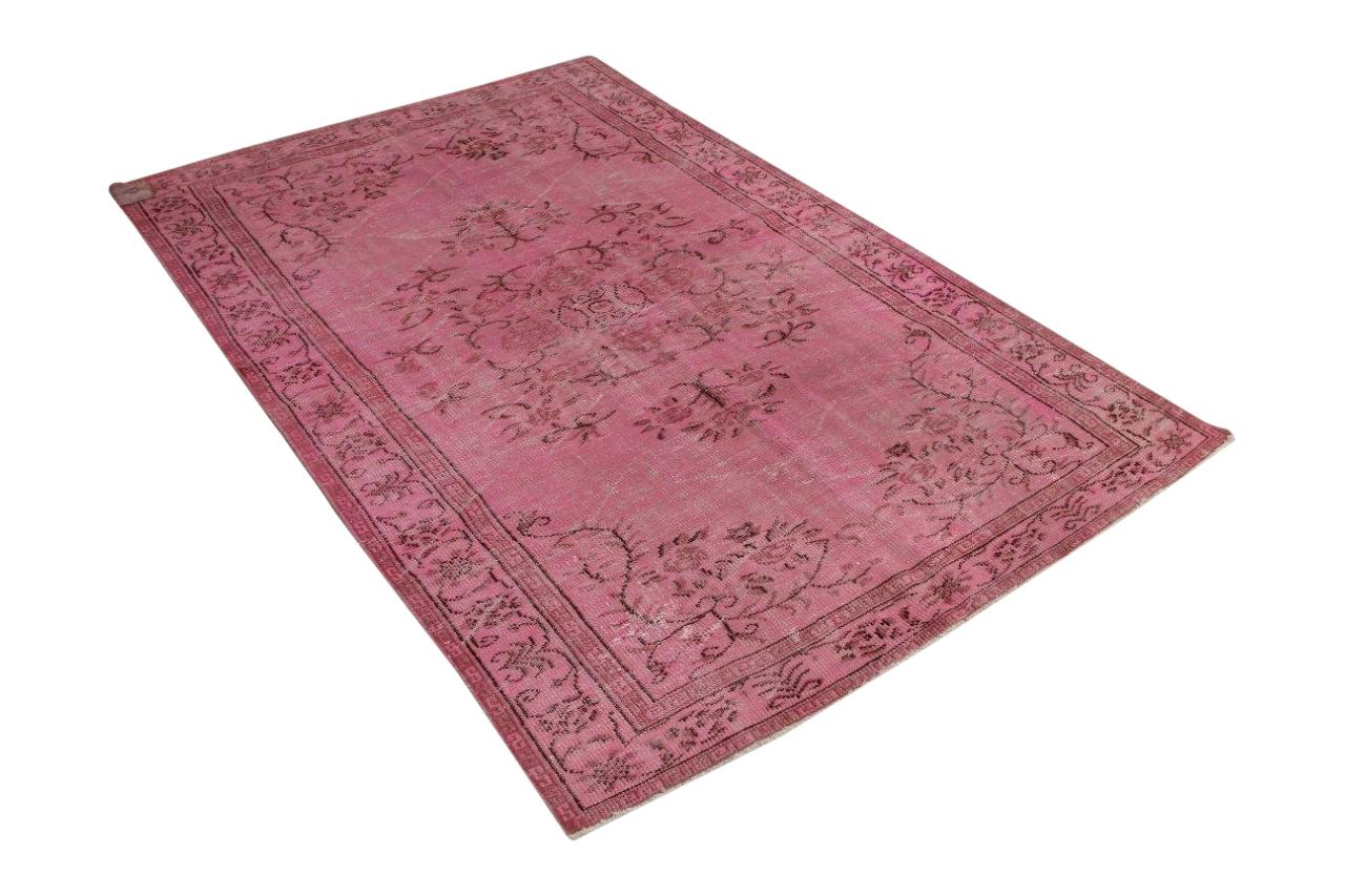 Vintage vloerkleed roze 264cm x 170cm nr4926