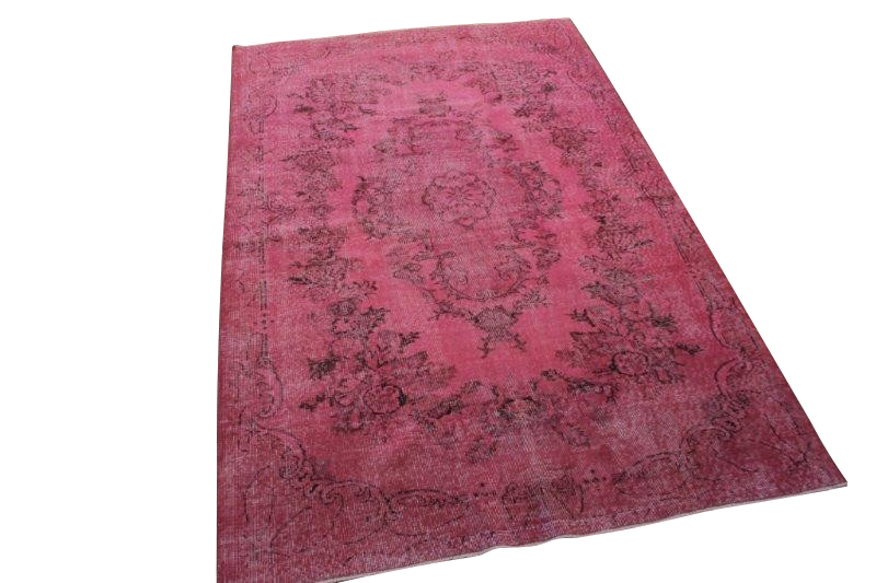 Roze vintage tapijt 270cm x 175cm  (nr1133)