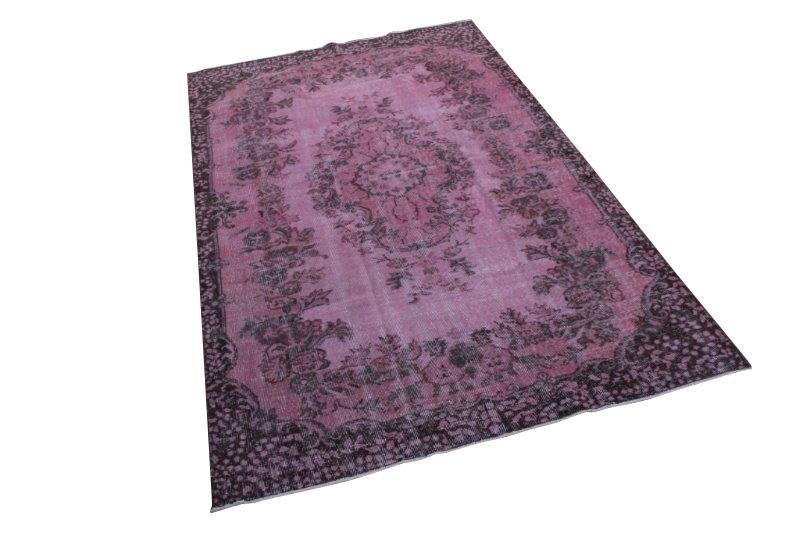 Roze vintage tapijt 278cm x 175cm  (nr1200)