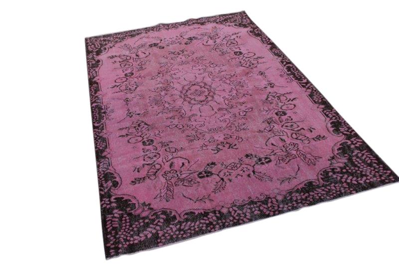 Vintage vloerkleed, roze, 271cm x 177cm