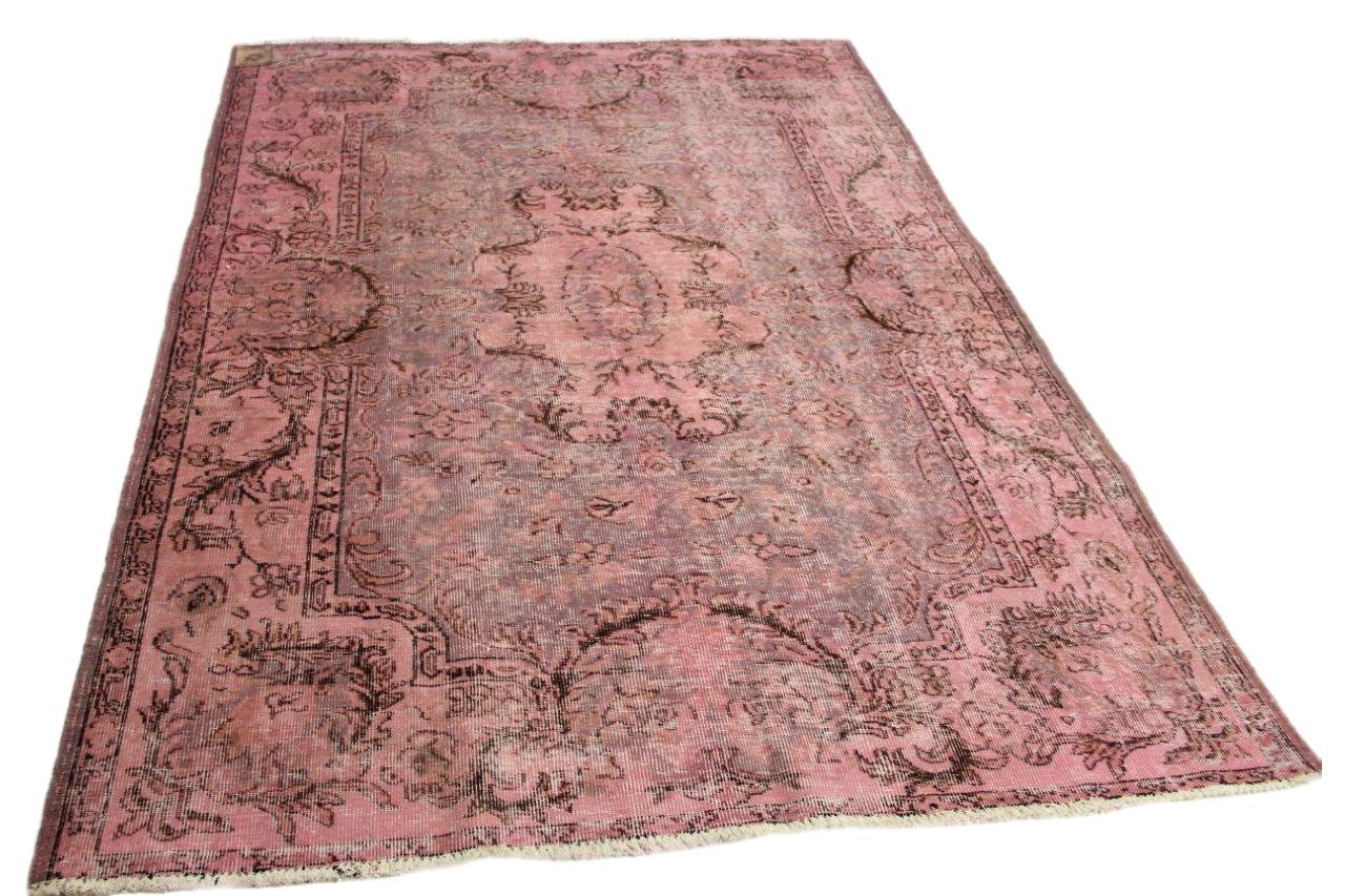 Oud roze vloerkleed 269cm x 180cm nr45678