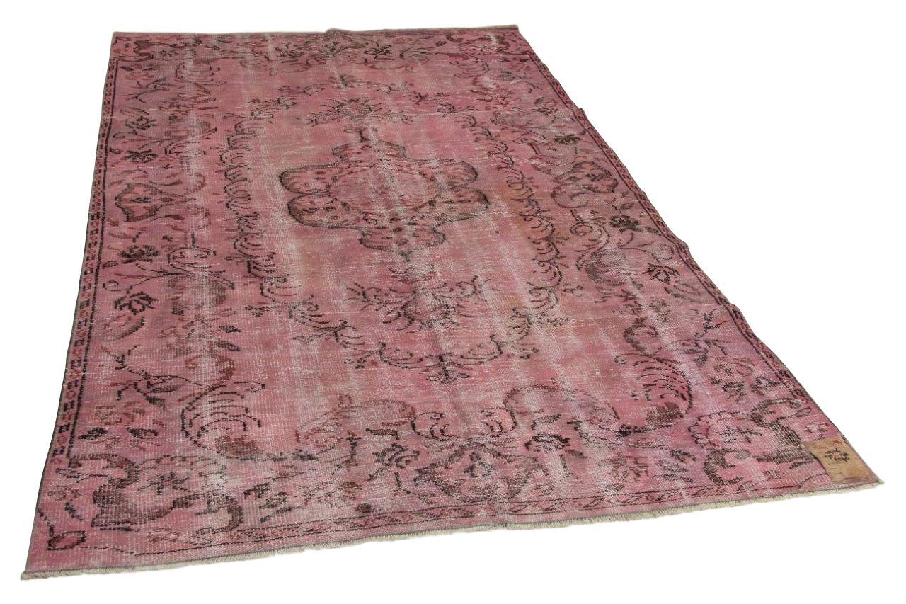 Roze vloerkleed 275cm x 178cm nr4956
