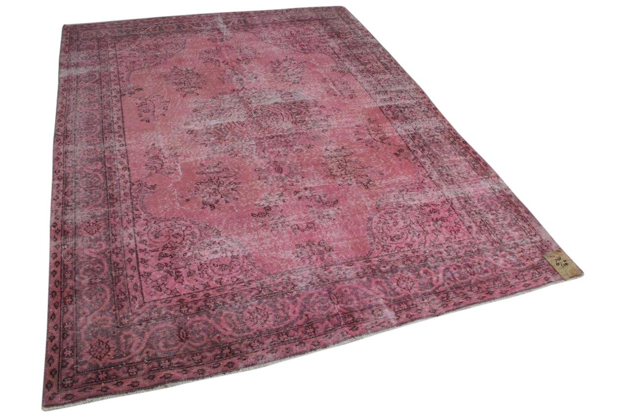 Vintage vloerkleed roze 7168 275cm x 211cm