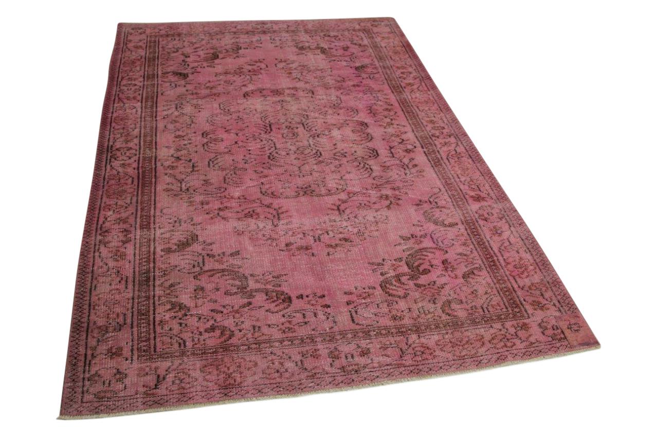 Roze vloerkleed 262cm x 173cm nr76454