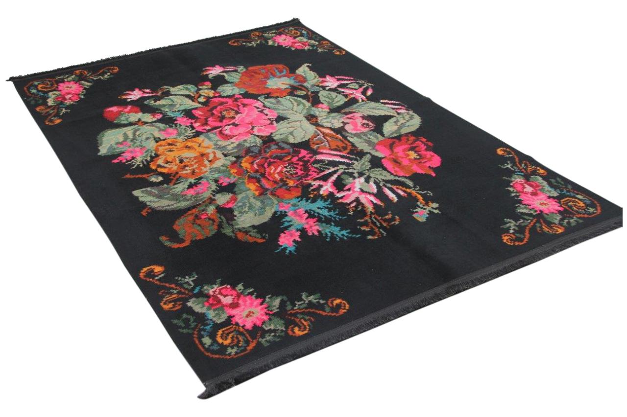 Zwarte rozenkelim 5021 sale