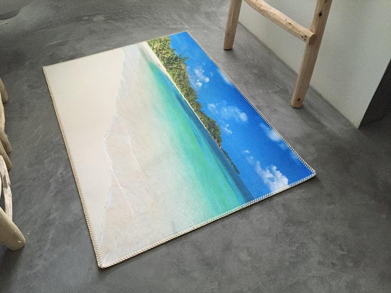 UITVERKOOP Nog 3 op voorraad  Badmat strand 100cm x 70cm 100% polyester