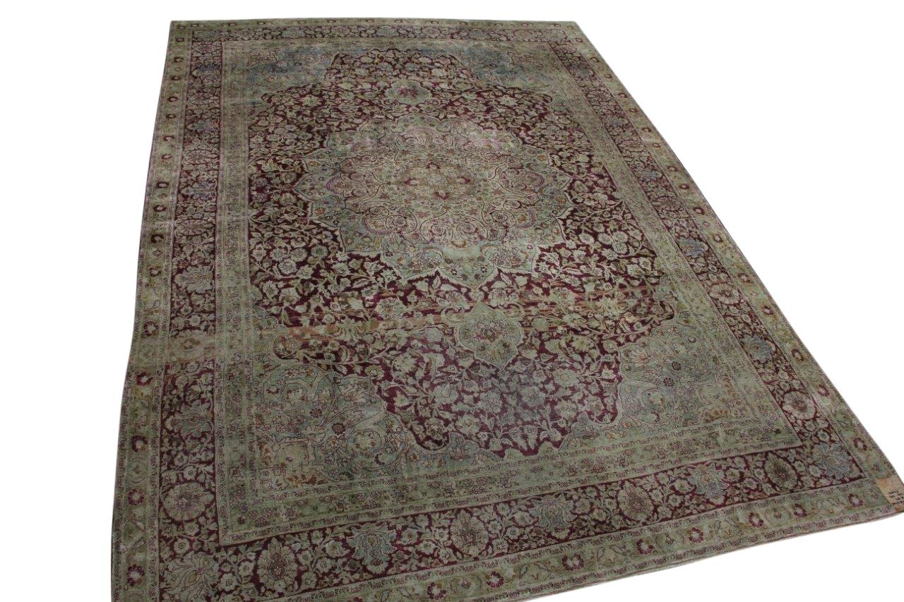 Afbeelding van Antiek perzisch Tabriz vloerkleed 486cm x 341cm 80-90 jaar oud