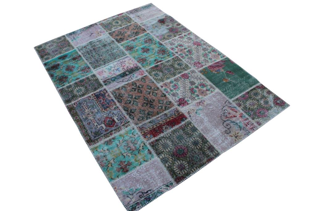 Vintage patchwork vloerkleed 245cm x 170cm (nr1497)