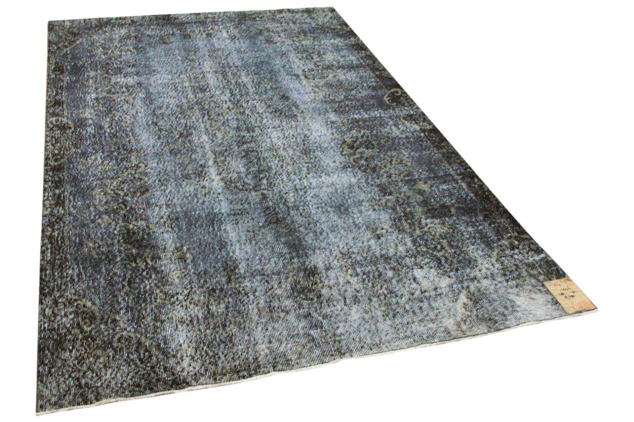 Vintage vloerkleed grijs, blauw 11046 278cm x 175cm