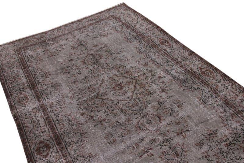 Vintage vloerkleed, grijs, 282cm x 181cm