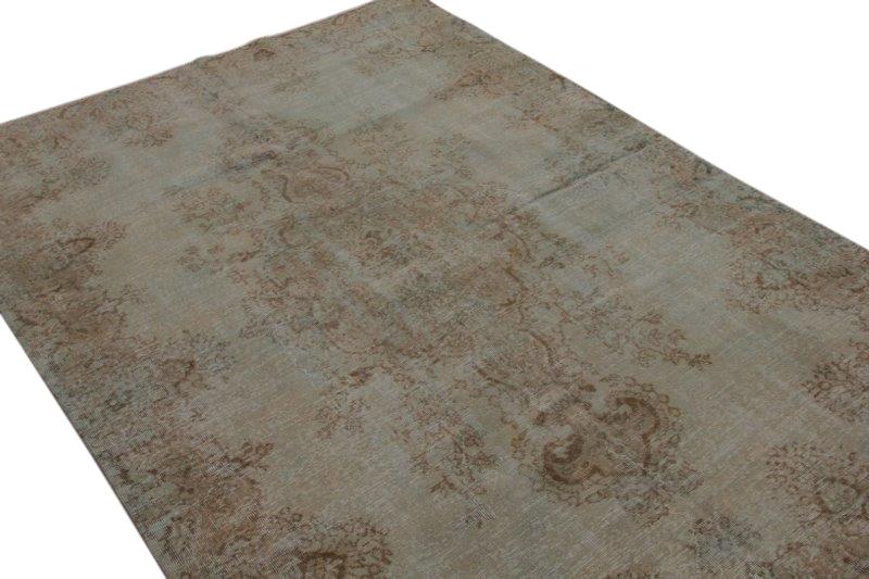 Legergroen vintage vloerkleed 289cm x 198cm  (nr5034)
