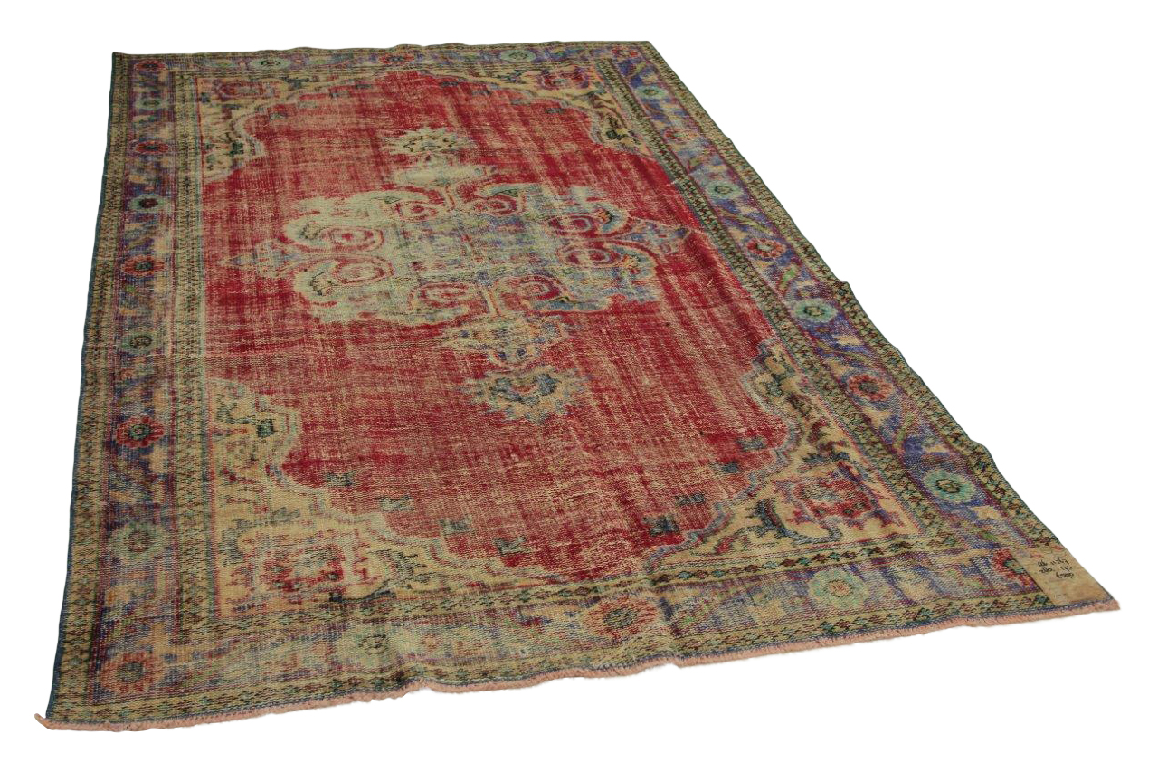Vintage vloerkleed rood 280cm x 173cm nr11267