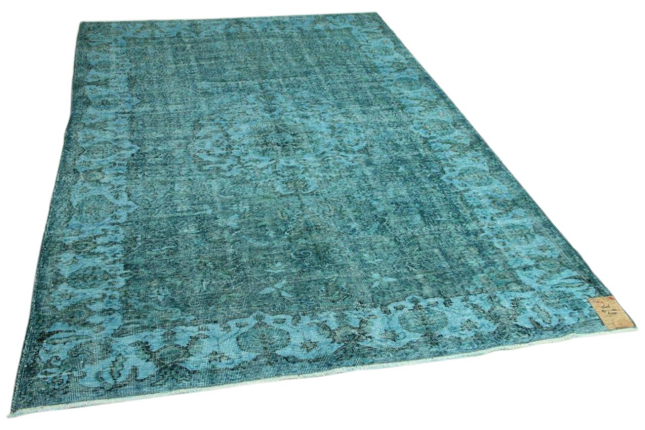 Vintage vloerkleed blauw 291cm x 200cm nr5656
