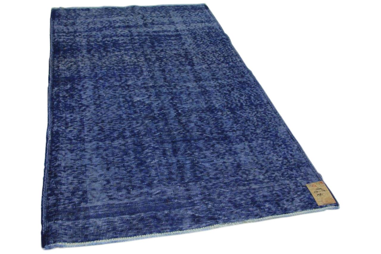 Vintage vloerkleed donkerblauw 250cm x 150cm nr12607
