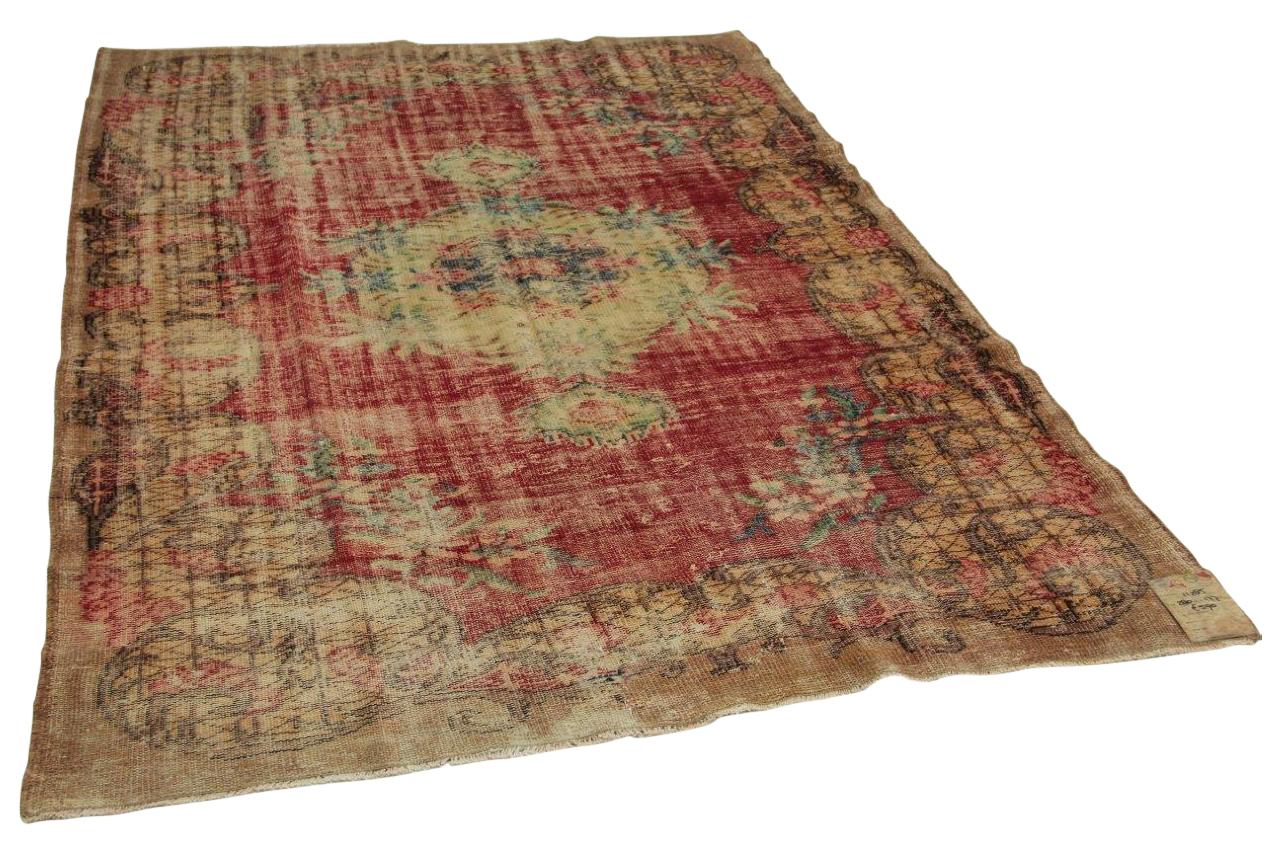 Vintage vloerkleed rood 280cm x 177cm nr11285